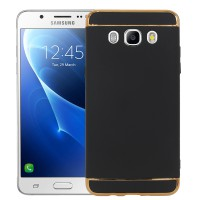 Case SAMSUNG J5 2016 / J510 - 3 in 1 Plated PC Frame Bumper with Frosted Hard Back Case