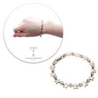 Korea Cocoa Jewelry Star Cluf Point - Silver Color