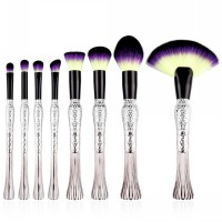 Mermaid Brush Make Up 8 Set - Purple