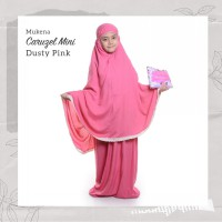 MUKENA TRAVELING ANAK SD 8-10 TAHUN POLOS RENDA CARUZEL DUSTY LIGHT PINK MAROON