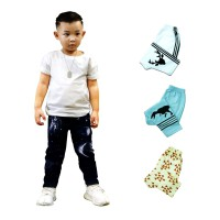 Isi 4 | Size M & L - Kazel Jobel Baby Boy Long Pants Galaxy Edition Celana Panjang Anak
