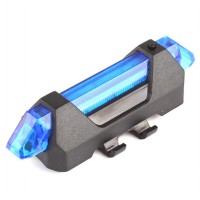 Lampu Sepeda 5 LED Taillight Rechargeable - Blue