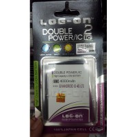 Baterai Battery Double Dobel Power Log-on Logon Advan i5 4000mAh