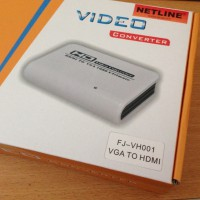 [Gold Product] NetLine HD Video Converter (HDMI to VGA+Adaptor)