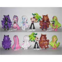 Set Figurin Miniatur Pajangan Boneka Monster High 6 pcs FG30