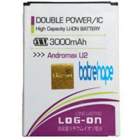Baterai Battery Double Dobel Power Log-on Logon Smartfren Andromax U2 EG97 ( Li38170A ) 3000Mah