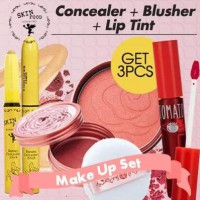[Get 3pcs]THE SKIN FOOD Rose Essence Blusher + Banana Concealer Stick + Tomato Cool Jelly Tint