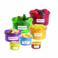 Perfect Portions 14 Pcs - 7 Set Container - Microwave Save