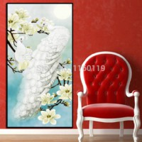 [globalbuy] 5D diamond embroidery Diy Diamond painting round resin cross stitch Magnolia f/898717