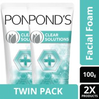 [TWIN PACK] Ponds Clear Solution Facial Scrub 100G