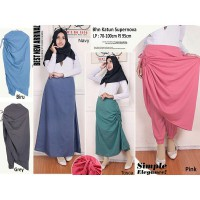 Celana rok panjang 3in1 wanita jumbo long pant Kelly