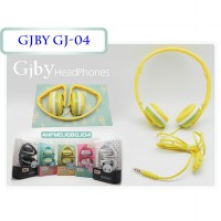 Headphone Handsfree GJBY GJ-04 SuperBass Wired Stereo with Mic