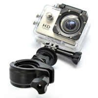 Handlebar Seatpost Roll Cage Mount 17-30mm for GoPro / Xiaomi Yi - Black