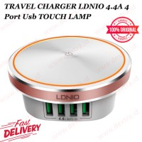 Travel Charger LDNIO 4.4 A 4 Port USB Touch Lamp V8 - LDNIO A4406