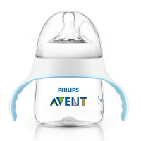 PHILIPS AVENT BABY NATURAL BOTTLE TO TRAINING CUP 5oz 150ml WHITE