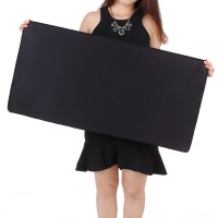 Gaming Mouse Pad Desk Mat Polos 300 x 800 mm - Black