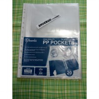 PP pocket ukuran A4