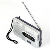 Portable AM/FM Radio Player Loudspeaker - BC-R21 - Silver