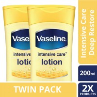 [TWIN PACK] Vaseline Lotion Intensive Care Deep Restore 200ML