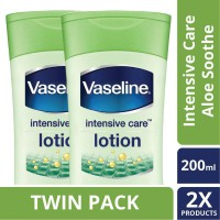 [TWIN PACK] Vaseline Lotion Intensive Care Aloe Soothe 200ML