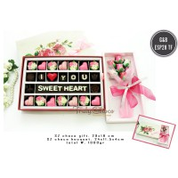 Trulychoco Chocolate Box dan Chocolate Bouquet - I LOVE YOU SWEET HEART