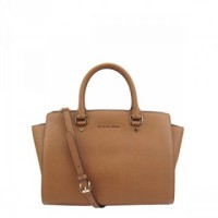 MICHAEL KORS dual-cross pattern tote bag new goods camel 30S3GLMS7L