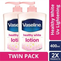 [TWIN PACK] Vaseline Lotion Healthy White Uv Lightening 400ML