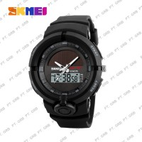 Jam Tangan Pria Digital Analog SKMEI 1275 Black Water Resistant 50M