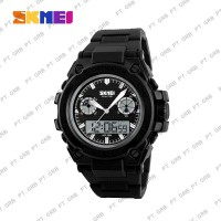 Jam Tangan Pria Digital Analog SKMEI 1217 Black Water Resist 50M