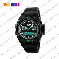 Jam Tangan Pria Digital Analog SKMEI 1217 Bk/Green Water Resist 50M