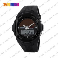 Jam Tangan Pria Digital Analog SKMEI 1056 Black Water Resistant 50M