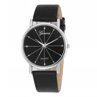 Jam Tangan Unisex Kasual Simple Keren Geneva Man & Woman Couple Watch - Light Watch