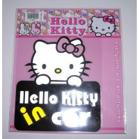 Stiker Mobil Scotlight Reflektive Hello Kitty in a Car - STHK 5