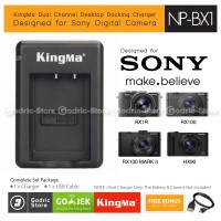 Kingma Charger NP-BX1 for Sony RX100 RX1 HX90 HX300 HX400 HDR-AS20 AS15 Etc