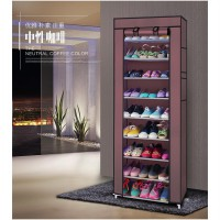 10 Layers Shoe Wardobe Rack With Cover /Shoe Rack With Dust Cover /Rak Sepatu 10 Tingkat 160x60x30cm