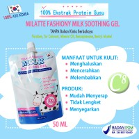 MILATTE Fashiony Soothing Gel 100% Milk Pouch Lotion Susu