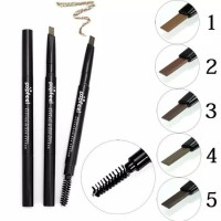 POPFEEL Eyebrow Waterproof Double Head Pensil Alis Anti Air ORI - Light Brown