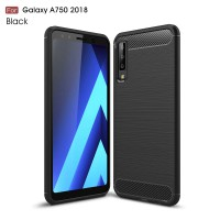 Samsung Galaxy A7 2018 SoftCase Carbon Hybrid Brushed Armor Black