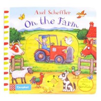Terlaris Buku Edukasi Anak Campbell - On the Farm - Push, Pull, Slide Book