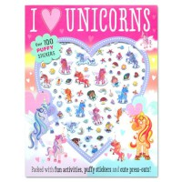 Terlaris Buku Edukasi Anak Puffy Sticker Activity Book : I Love Unicorns Over 100 Stickers