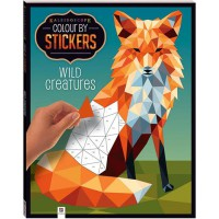 Terlaris Buku Edukasi Anak Kaleidoscope Colour by Stickers WILD CREATURES Mosaic Sticker Book