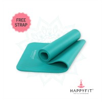 HAPPYFIT MATRAS OLAHAGA NBR - TOSCA 10MM /EXERCISE/GYM MAT (+STRAP)