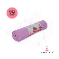 HAPPYFIT MATRAS YOGA ANTI SLIP 8MM LILAC (GRATIS TAS)/PVC MAT(FREE BAG)