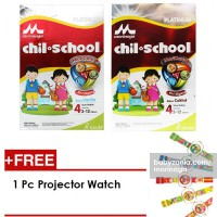 Morinaga ChilSchool Moricare Platinum ( 2x400gr ) 1 Pcs - FREE Projector Watch - Vanila/Coklat