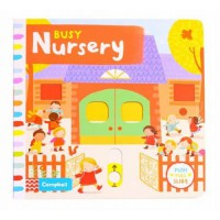 Terlaris Buku Edukasi Anak Busy Nursery - Push, Pull, Slide Book