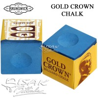 Brunswick Original Chalk - Gold Crown Blue - Kapur Biliar Billiard Cuk