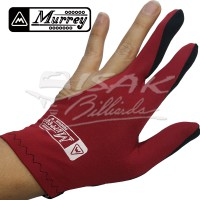 Murrey 3-finger Gloves, Duo Color - Sarung Tangan Biliar - Hitam Merah
