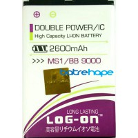 Baterai Baterry Dobel Double Power Log-on Logon Blackberry BB M-S1 MS1 Bold 9000 Onyx 9780 2600Mah
