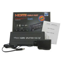 Vernon HDMI Splitter 1X4, 1 input 4 output, High Resolution and High Speed for best conection