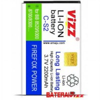 Baterai Battery Double Dobel Power Blackberry BB C-S2 CS2 Gemini Vizz 2250Mah